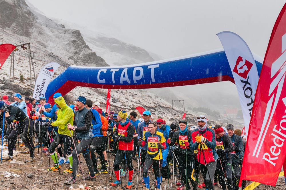 Start beim Red Fox Elbrus Race