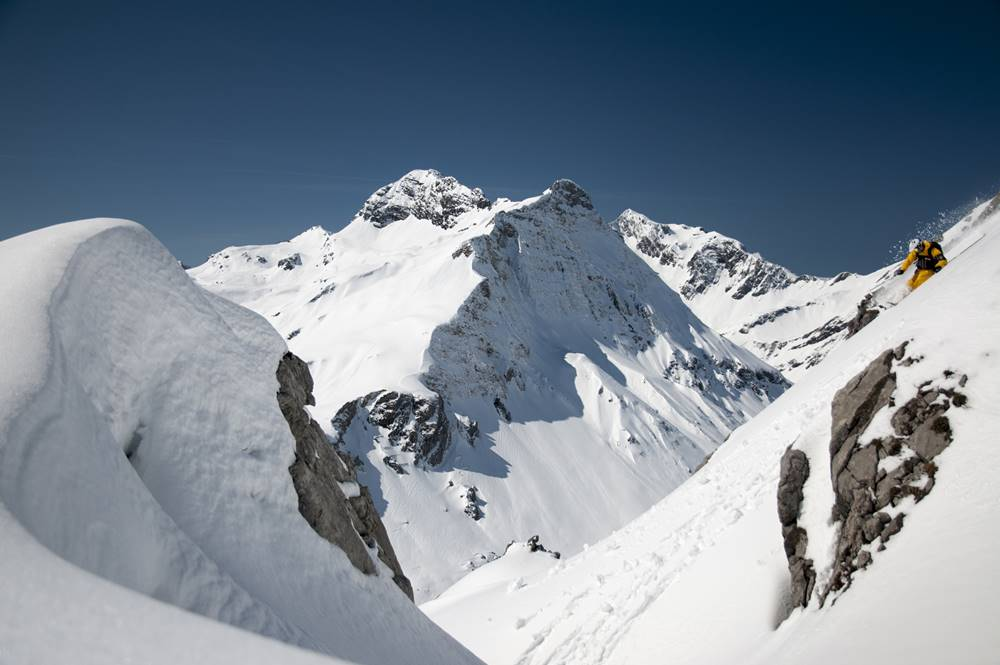 Freeriden im Skigebiet Warth-Schröcken
