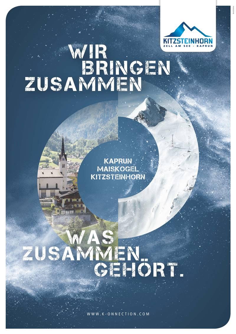 Werbeplakat Fusion Kitzsteinhorn-Maiskogel