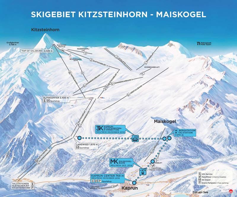 Übersicht Skigebiet Kitzsteinhorn-Maiskogel