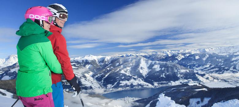 Skifahrer auf der Schmittenhöhe