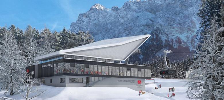 Talstation der neuen Zugspitzbahn