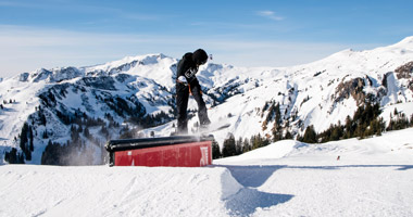 Snowpark im Skigebiet Damüls-Mellau
