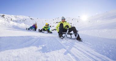 Rodler am Schnalstaler Gletscher