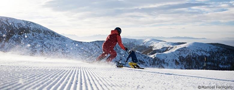 Skifahren im Meraner Land