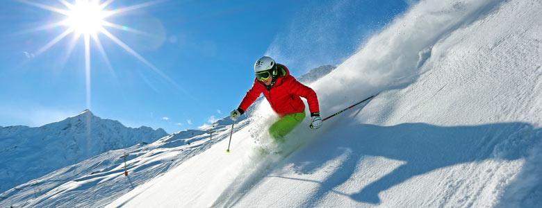 Skifahrerin im Ötztal