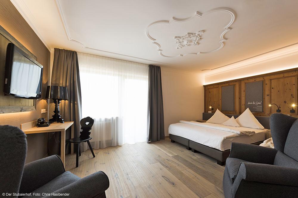 Doppelzimmer Deluxe im Hotel Der Stubaierhof