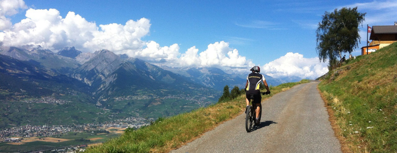 Mountainbiker in der Region Nendaz