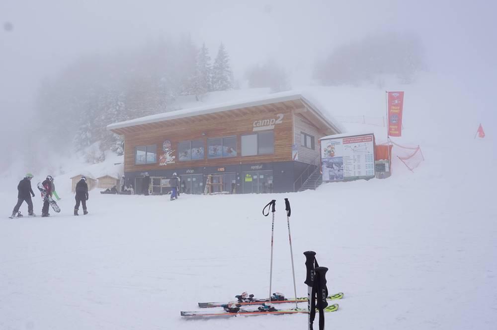 Blick auf das Camp2 an der Talstation der Rosskopfbahn