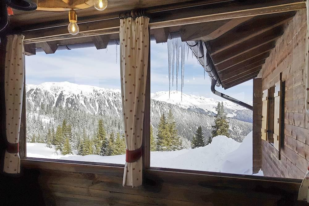 Ausblick aus der Kalcher-Alm über die Bergwelt des schönen Ratschingstal