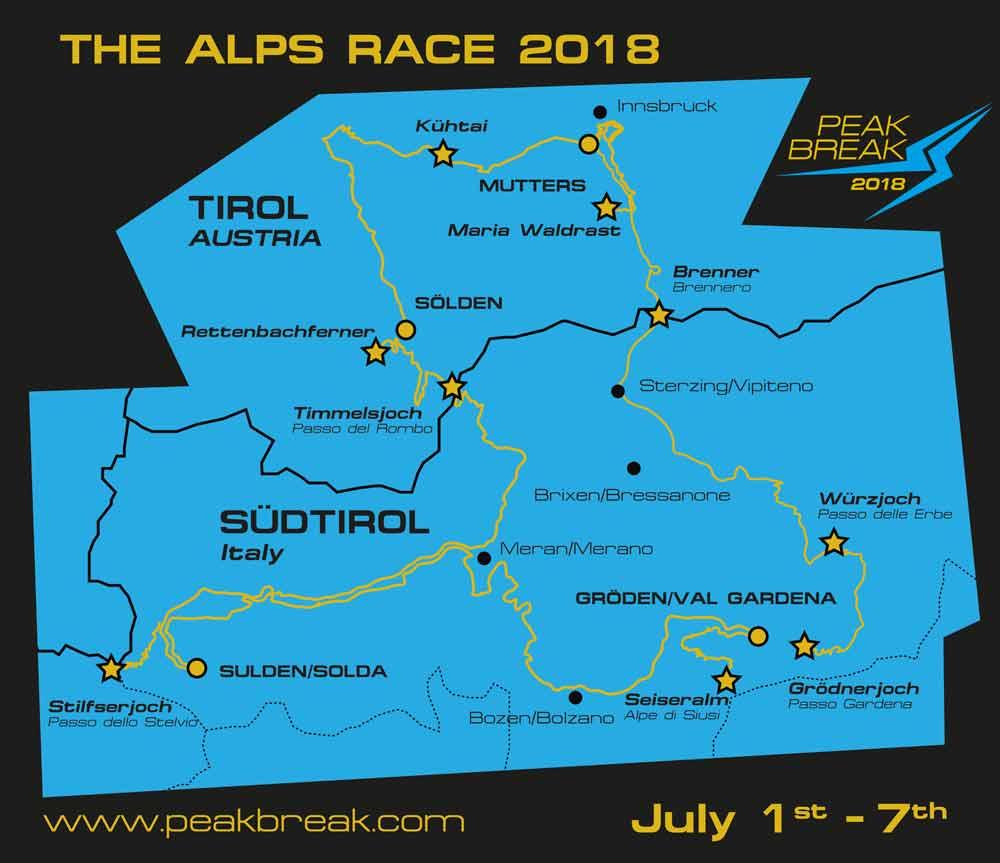 Streckenverlauf Peakbreak 2018