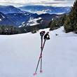 Leki-Stöcke im Einsatz beim Schneeschuhwandern auf der Plose