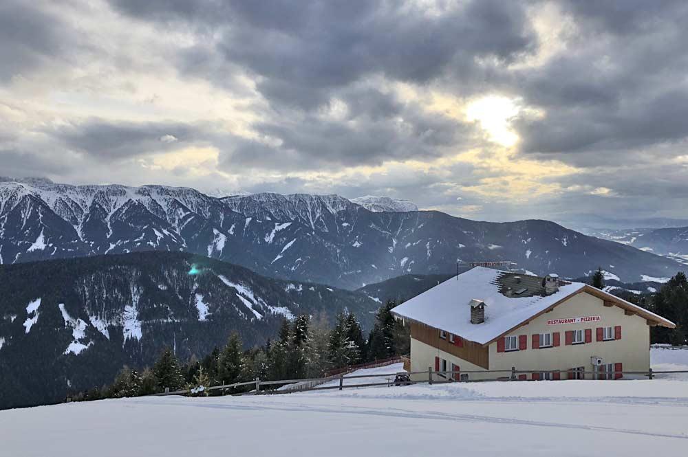 Aussicht auf das Bergpanorama in Richtung Pension Geisler
