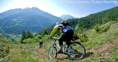 Mountainbiker in Val d'Allos