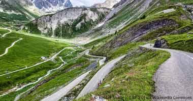 Straße auf den Col du Galibier