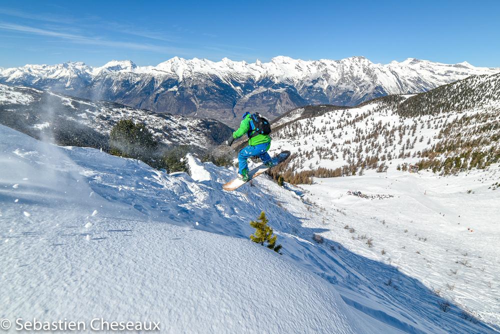 Snowboarder in Nendaz