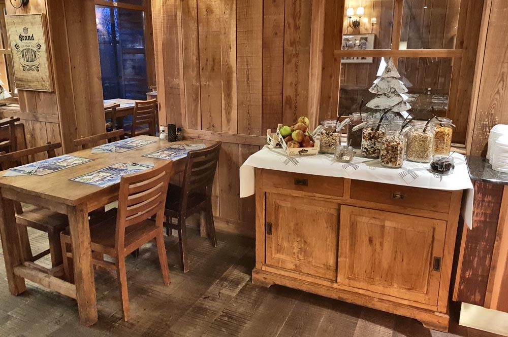 Der Frühstücksraum in SnowWorld Landgraaf