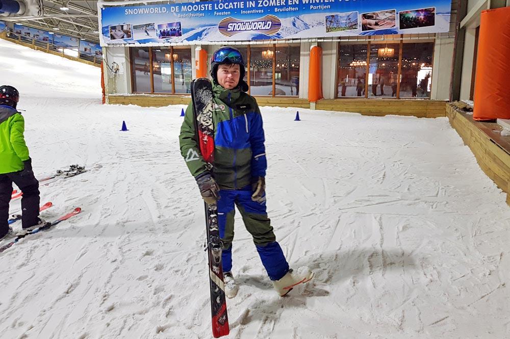 Unser Skilehrer Dion in SnowWorld Landgraaf