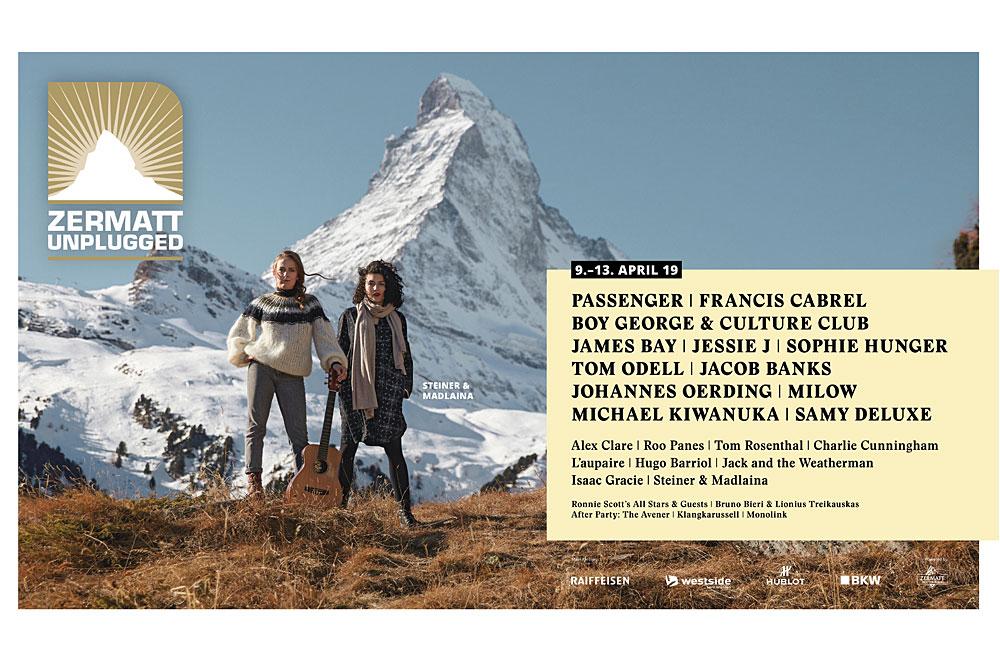 Programmteaser des Zermatt Unplugged 2019