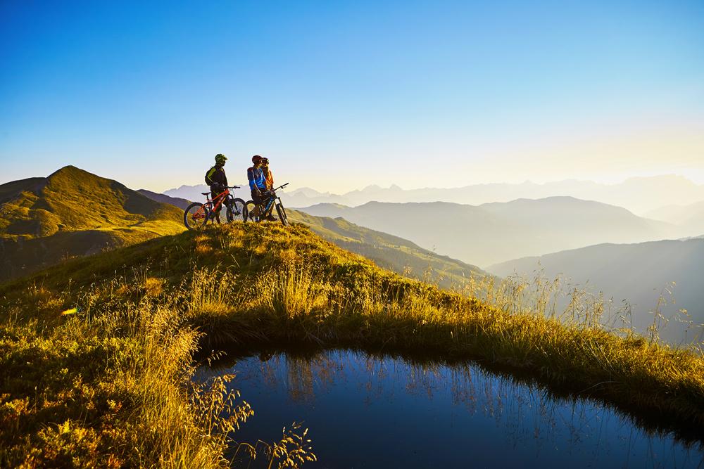 Biker in der Region Saalbach