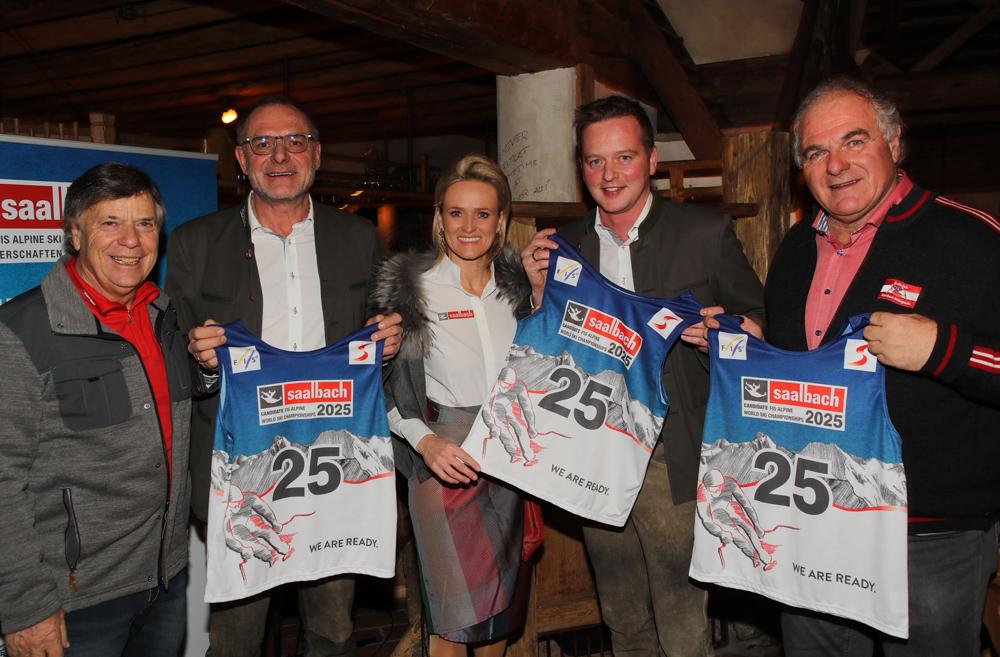 Saalbach-Delegation mit ÖSV-Präsident Peter Schröcksnadel