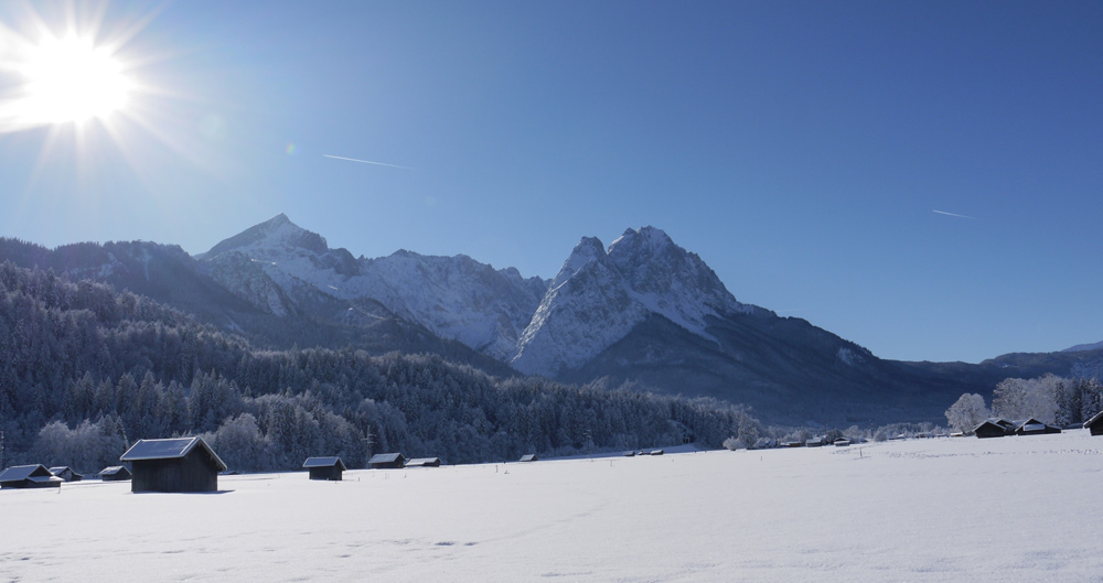 Winterpanorama um Garmisch-Partenkirchen