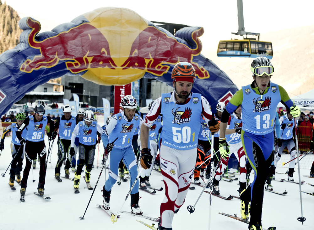 Teilnehmer beim Rise & Fall in Mayrhofen