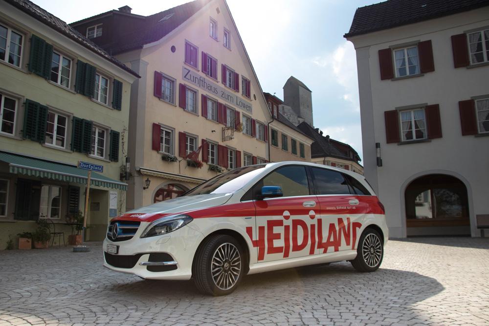 E-Auto des Heidilands