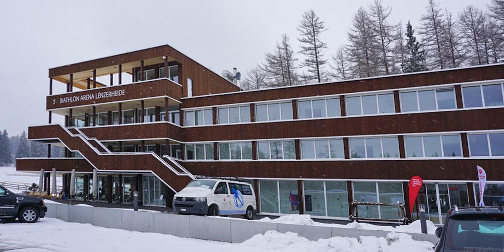 Nordic House in der Biathlon Arena Lenzerheide