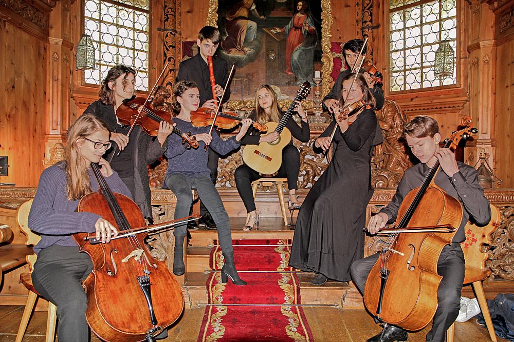 Nachwuchsmusiker beim Piz Amalia Music Festival