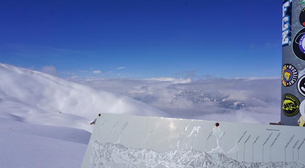 Ausblick vom Lavoz im Skigebiet Arosa Lenzerheide