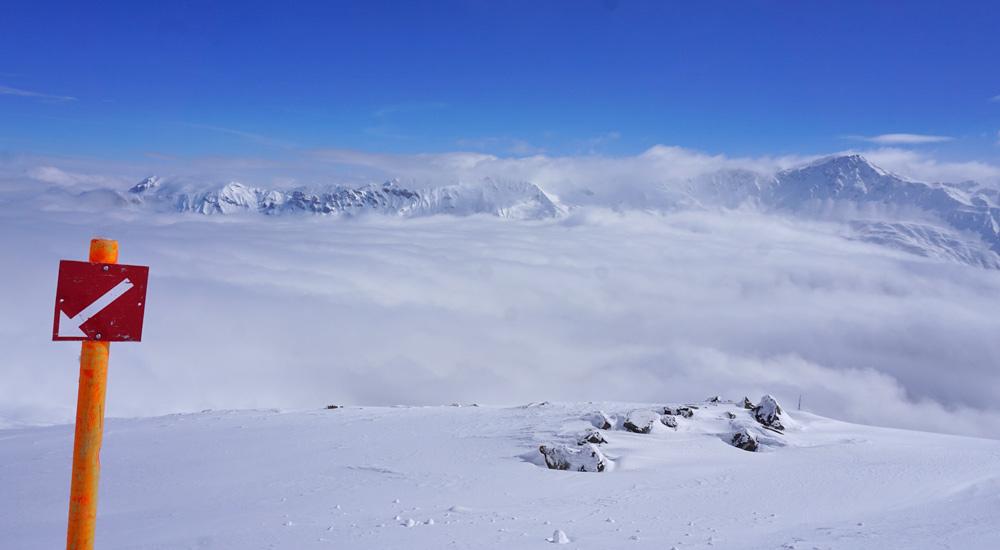 Ausblick vom Skigebiet Arosa Lenzerheide