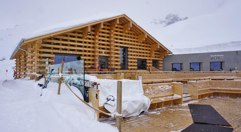 Mottahütte im Skigebiet Arosa Lenzerheide