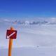 Hinweisschild im Skigebiet Arosa Lenzerheide