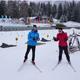 Langlaufübungen beim Schnupperkurs in der Biathlon Arena Lenzerheide