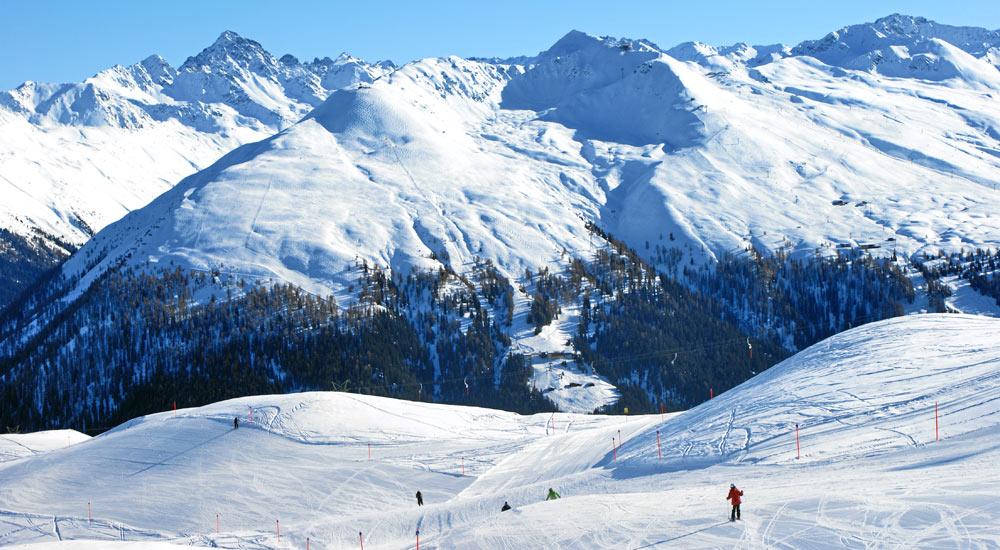 Skigebiet Strela auf der Schatzalp