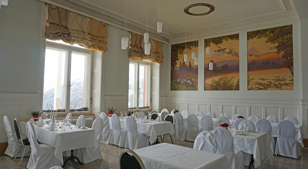 Speisesaal im Hotel Schatzalp