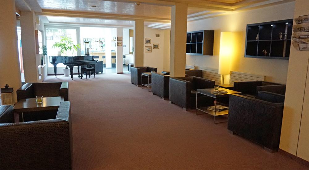 Lobby des Hotel Strela in Davos