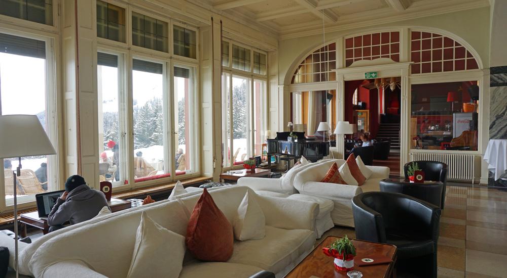 Lounge des Hotels Schatzalp