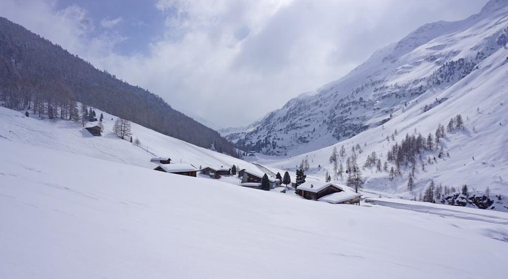 Winterlandschaft auf der Pischa