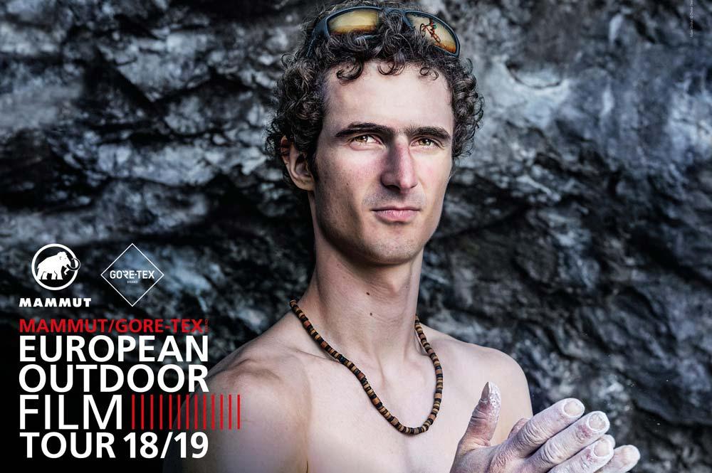Der Tschechische Sportkletterer Adam Ondra auf dem E.O.F.T. Flyer