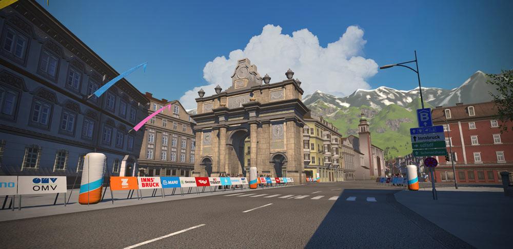 Entwurf der Radstrecke in Innsbruck
