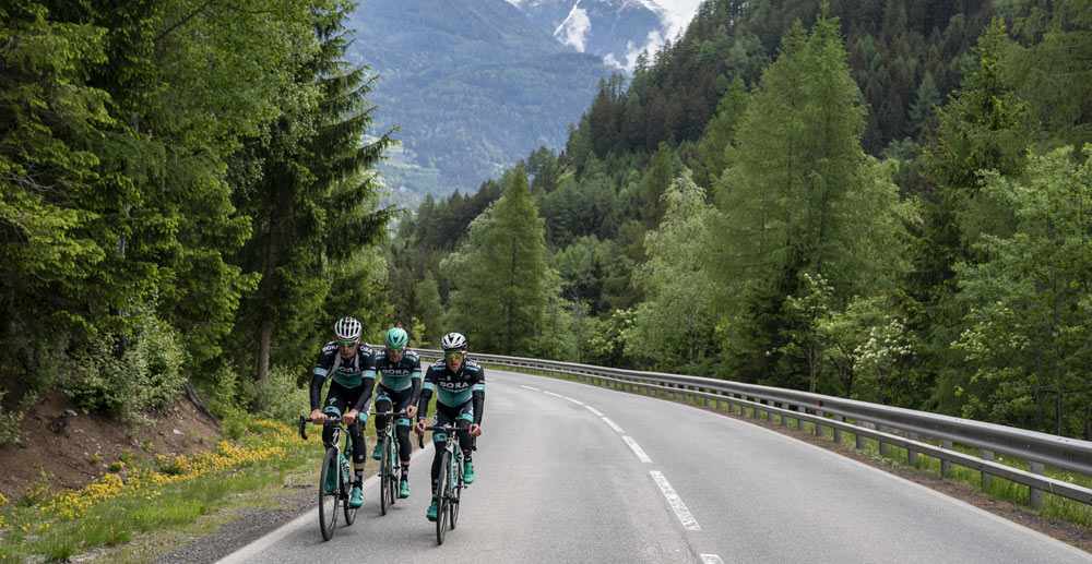 Team BORA-hansgrohe beim Training in Tirol