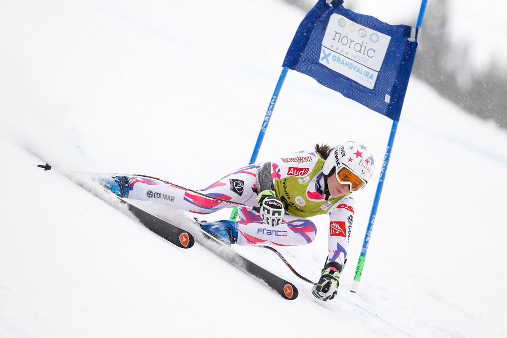 Skirennfahrerin in Grandvalira