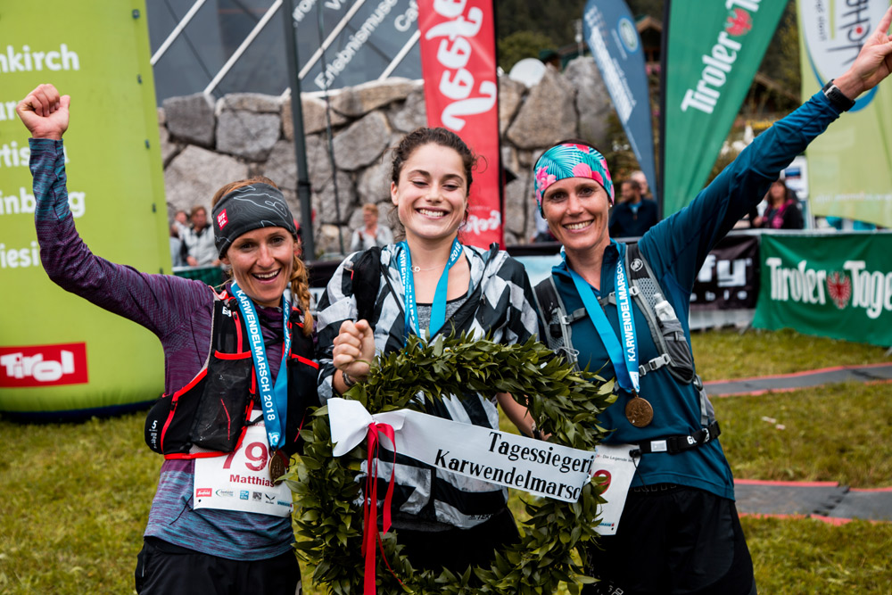 Siegerinnen beim Karwendelmarsch 2018