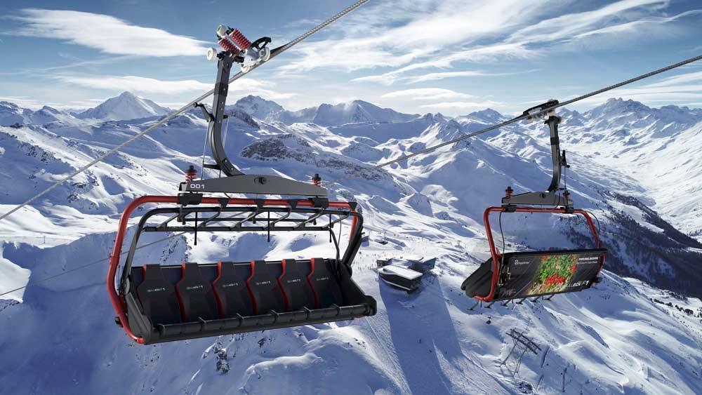 Sessel der neuen Velilleckbahn in Ischgl