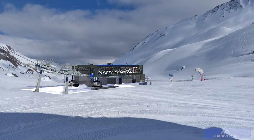 Talstation der neuen Visnitzbahn in Samnaun