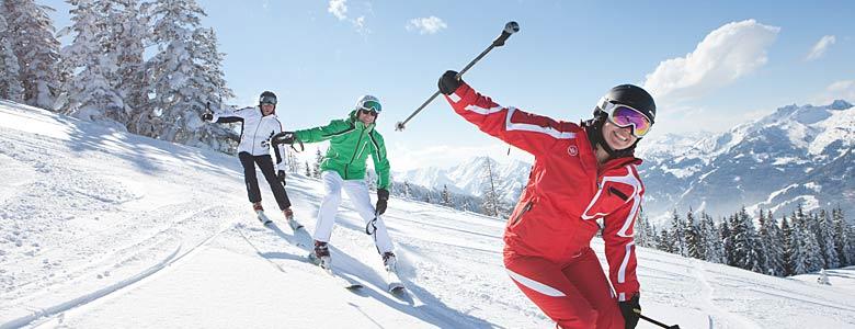 Skifahrer im SalzburgerLand
