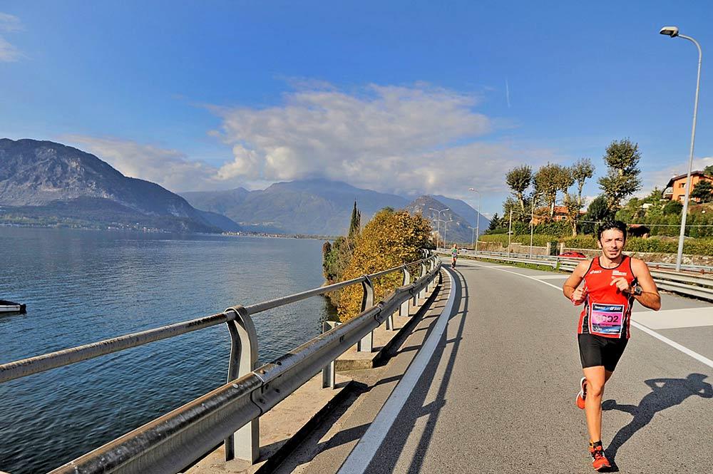 Läufer am Lago Maggiore