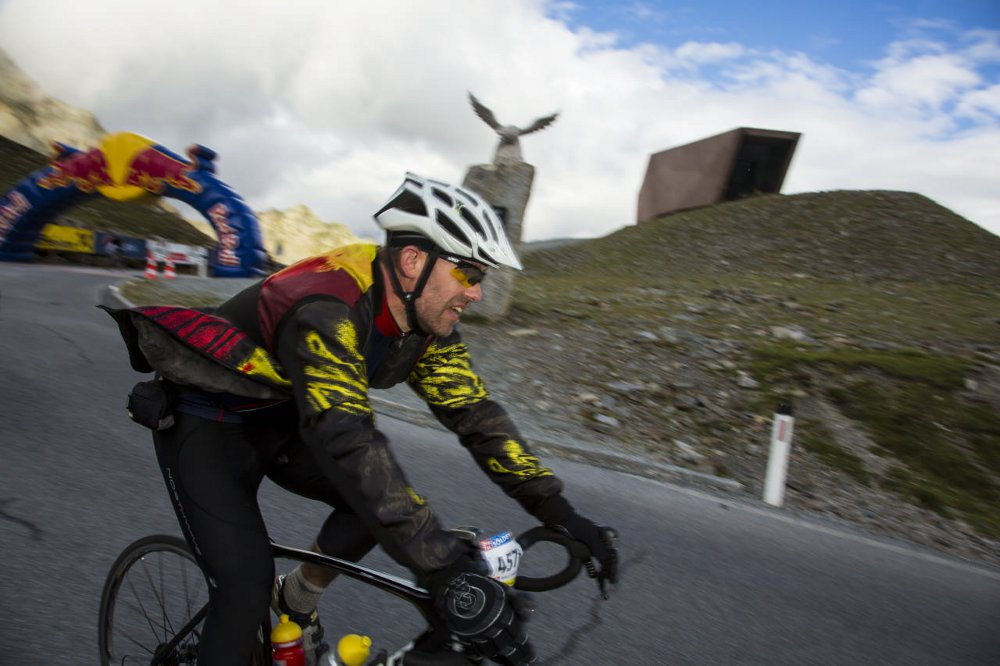 Fahrradfahrer beim Ötztaler Radmarathon